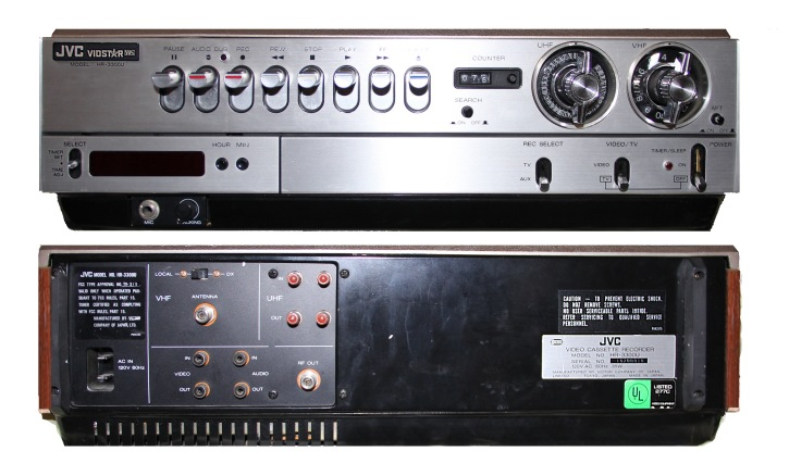 The JVC HR-3300 VIDSTAR is the world's first VHS-based VCR to be released to the market, introduced by the president of Japanese company JVC, at the Okura Hotel on September 9, 1976.